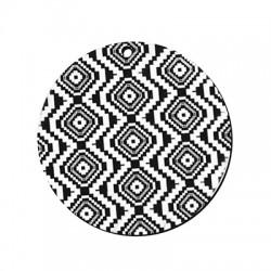 Plexi Acrylic Pendant Round Rhombus 49mm