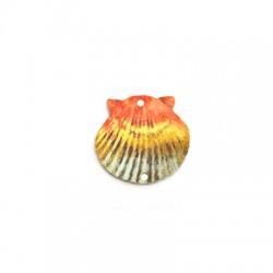 Plexi Acrylic Pendant Shell w/ 2 Holes 30x28mm