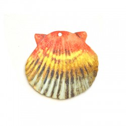 Plexi Acrylic Pendant Shell 50x47mm
