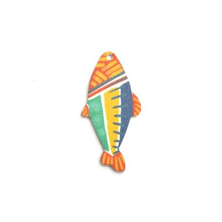 Πλέξι Ακρυλικό Μοτίφ Ψάρι 27x55mm