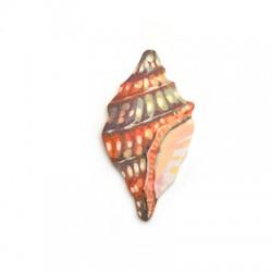 Plexi Acrylic Pendant Shell 31x60mm