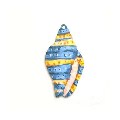 Πλέξι Ακρυλικό Μοτίφ Κοχύλι 31x60mm