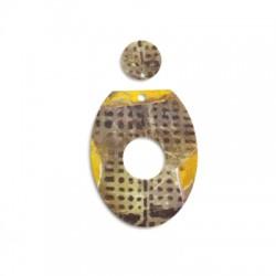 Plexi Acrylic Pendant Irregular 13mm & 39x50mm (2pcs/Set)