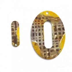 Plexi Acrylic Pendant Oval 9x30mm & 39x55mm (2pcs/Set)