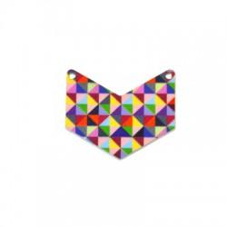 Plexi Acrylic Pendant w/ 2 Holes 40x33mm