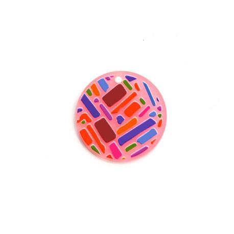 Πλέξι Ακρυλικό Μοτίφ Στρογγυλό 30mm