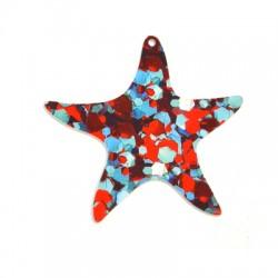 Plexi Acrylic Pendant Starfish 62mm