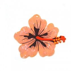 Plexi Acrylic Pendant Flower Hibiscus 68x62mm