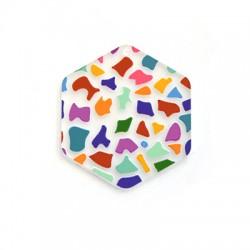 Πλέξι Ακρυλικό Μοτίφ Εξάγωνο 44x50mm