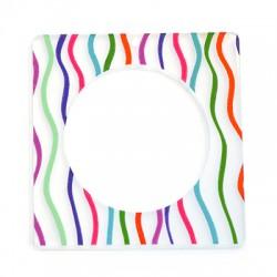 Πλέξι Ακρυλικό Μοτίφ Τετράγωνο Περίγραμμα 65mm
