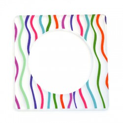 Plexi Acrylic Pendant Square 65mm
