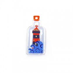 Plexi Acrylic Pendant Bottle Lighthouse 18x40mm
