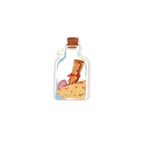 Πλέξι Ακρυλικό Μοτίφ Μπουκάλι Άμμος Γράμμα 20x40mm