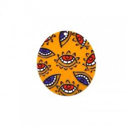 Plexi Acrylic Pendant Oval Eyes 48x5mm