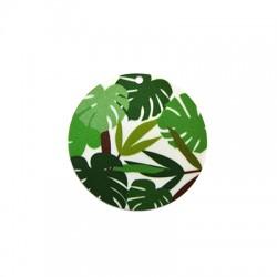 Plexi Acrylic Pendant Round Leaves 50mm