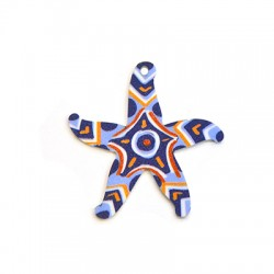 Plexi Acrylic Pendant Starfish 44mm
