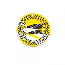 Plexi Acrylic Pendant Round Fish 50mm