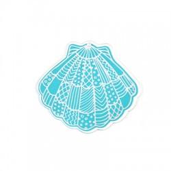 Plexi Acrylic Pendant Shell 70x65mm
