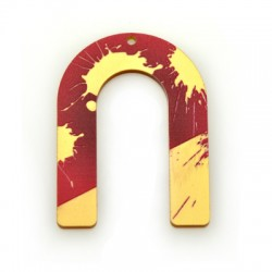 Plexi Acrylic Pendant Horseshoe 40x55mm