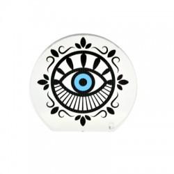 Πλέξι Ακρυλικό Επιτραπέζιο Στρογγυλό Μάτι 80x73mm
