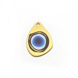Plexi Acrylic Pendant Drop Eye 23x31mm