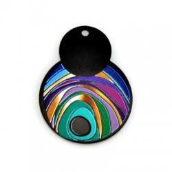 Plexi Acrylic Pendant Irregular Eye 31x41mm