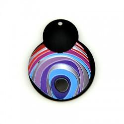 Plexi Acrylic Pendant Irregular Eye 40x51mm