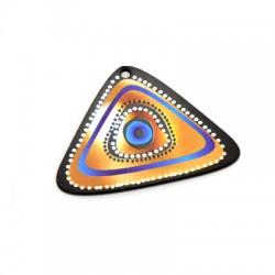 Plexi Acrylic Pendant Triangle Eye 50x34mm
