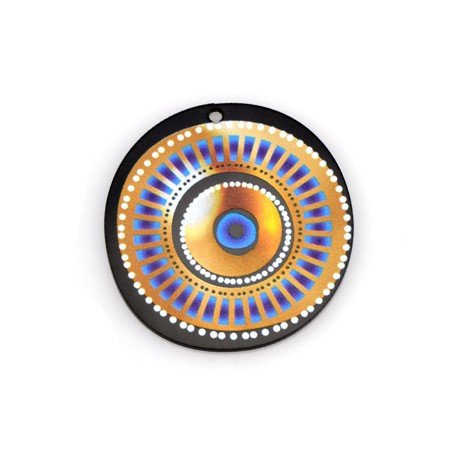 Plexi Acrylic Pendant Round Eye 45mm
