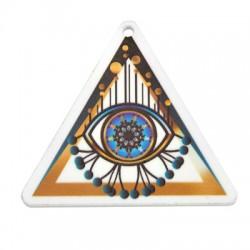 Plexi Acrylic Pendant Triangle Eye 56x50mm