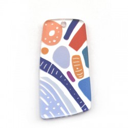 Πλέξι Ακρυλικό Μοτίφ Τραπέζιο Ακανόνιστο 25x50mm