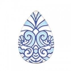 Plexi Axrylic Pendant Drop 34x50mm