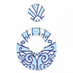 Plexi Acrylic Pendant Oval 43x47mm & 19x20mm (2pcs/Set)