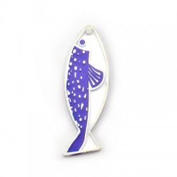 Πλέξι Ακρυλικό Μοτίφ Ψάρι 20x60mm