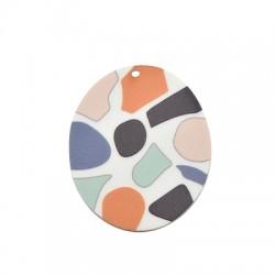 Pendentif ovale en Plexiacrylique 45x55mm