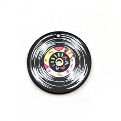 Plexi Acrylic Pendant Vinyl Record 40mm