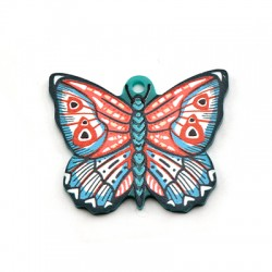 Pendentif papillon en Plexiacrylique 37x30mm