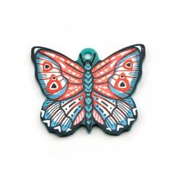 Πλέξι Ακρυλικό Μοτίφ Πεταλούδα 37x30mm