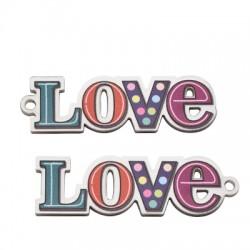 """Πλέξι Ακρυλικό Μοτίφ """"Love"""" 53x16mm"""