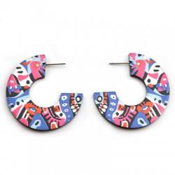 Boucles d'oreille ronds en Plexiacrylique 40mm (paire)