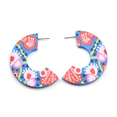 Plexi Acrylic Earring Hoop 44x50mm (2pcs/Set)