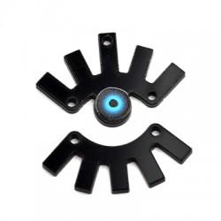 Ciondolo in Plex Occhio con Ciglia  31x32mm (2pz/Set)