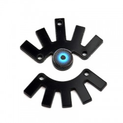 Pendentif œil en Plexiacrylique 31x32mm (paire)