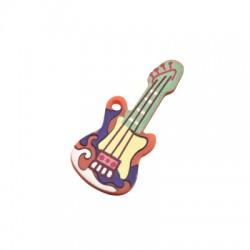 Pendentif guitarre en Plexiacrylique 18x40mm
