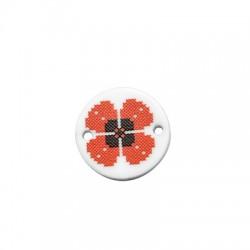 Plexi Acrylic Connector Round w/ Poppy March 18mm