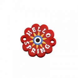 "Plexi Acrylic Connector Flower ""Hello Spring""18mm"