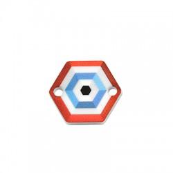 Plexi Acrylic Connector Kite w/ Evil Eye 18x16mm