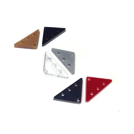 Intercalaire Triangulaire en Plexiacrylique 25x13mm (grosseur 3mm, Ø 1.8mm)