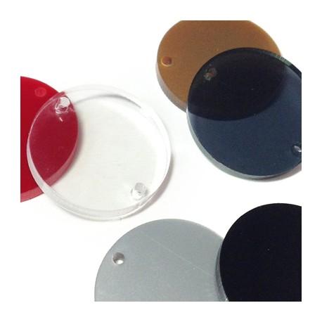 Intercalaire Circulaire en Plexiacrylique 25mm (grosseur 3mm, Ø 1.8mm)