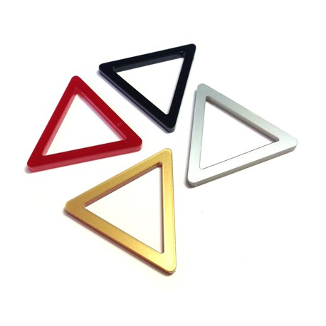 Πλέξι Ακρυλικό Στοιχείο Τρίγωνο Περίγραμμα 30x33mm
